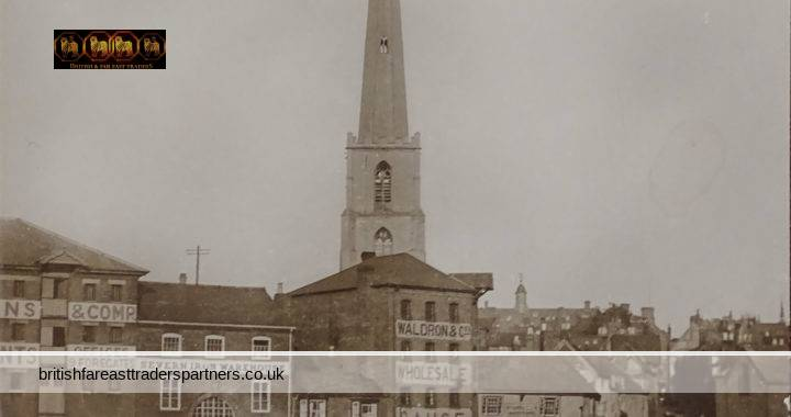 VINTAGE ST. ANDREW'S SPIRE WORCESTER CATHEDRAL & UNIVERSITY CITY WORCESTERSHIRE, ENGLAND RIVER SEVERN Featuring BARGES,  WHITEHOUSE BROS IRON & STEEL MERCHANTS,  SEVERN IRON WAREHOUSE,  WALDRON & COs WHOLESALE SAUCE MANUFACTORY, & ST. ANDREWS INSTITUTE PUBLISHED BY HC KNOTT , 2 BRIDGE STREET WORCESTER  COLLECTABLE POST CARD HISTORICAL / TOPOGRAPHICAL / TOURISM / TRAVEL / ARCHITECTURE / ADVERTISING /  INDUSTRIAL / COMMERCIAL