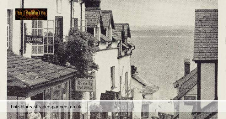 VINTAGE  25th August 1965 THE POST OFFICE HIGH STREET, CLOVELLY HARBOUR VILLAGE DEVON, ENGLAND PICTURESQUE VILLAGE SEA VIEW PUBLISHED BY J. SALMON LTD. , SEVENOAKS  COLLECTABLE POST CARD HISTORICAL / TOPOGRAPHICAL / TOURISM / TRAVEL / ARCHITECTURE / ADVERTISING /  SOCIAL HISTORY