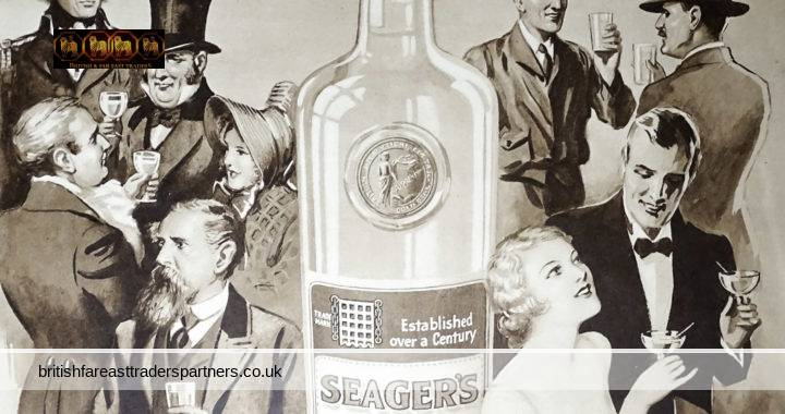 VINTAGE 11th MAY 1935 SEAGER'S GIN: THE CHOICE OF CONNOISSEURS SINCE 1805 THE SPIRIT OF TODAY SEAGER, EVANS & CO LTD. DEPTFORD BRIDGE, LONDON, S.E. COLLECTABLE Spirits / Distillery GIN / SOCIETY/ LIFESTYLE EPHEMERA ADVERTISEMENT