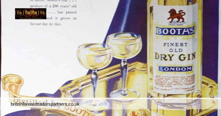 VINTAGE 11th MAY 1935 BOOTH'S FINEST OLD DRY GIN LONDON: Distilled by BOOTH'S Mellowed by TIME BOOTH'S DISTILLERIES LTD. 83-5 TURNMILL STREET, LONDON, E.C. COLLECTABLE Spirits / Distillery GIN / LIFETSYLE / EPHEMERA / ADVERTISEMENT