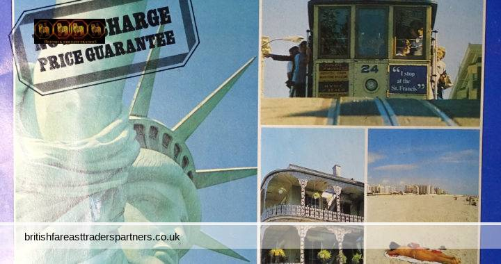VINTAGE AMERICA 1982 TRANSATLANTIC HOLIDAYS: CITIES EAST AND WEST: DRIVE YOURSELF CRUISES: CUNARD CRUISES 23 PAGES COLOURFUL BROCHURE COLLECTABLES / SEA TRANSPORT / CRUISES / HOLIDAYS / NOSTALGIA / TOURS & TRAVELS / EPHEMERA