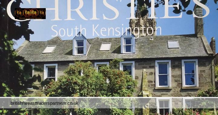 CHRISTIE'S SOUTH KENSINGTON LONDON 2 OCTOBER 2002 TWO SCOTTISH COLLECTIONS HOLLY HOUSE, MONTROSE & 19 INDIA STREET, EDINBURGH PROPERTIES of the Late DAVID R. SOMERVELL Esq and a GENTLEMAN AUCTION Catalogue