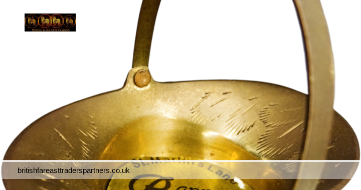 VINTAGE Mini PETITE BRASS TRAY BASKET Made in INDIA Labelled Bonne Bouche St. Martin's Lane LEWES CASTLE Posy Flowers Basket | TRINKETS TRAY | HOME | DECOR | COLLECTABLES