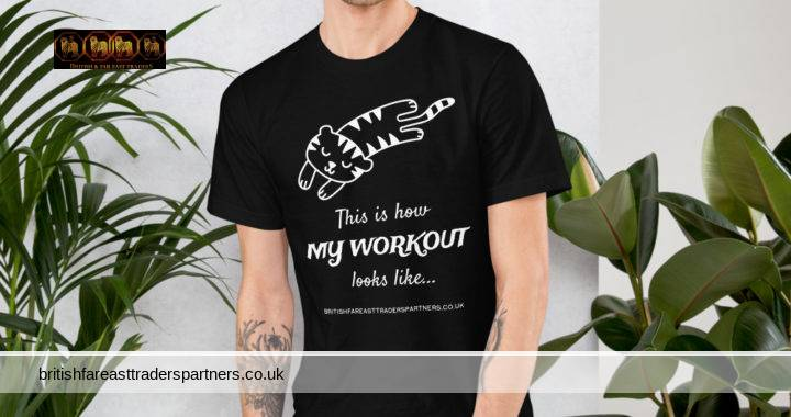 BRITISH & FAR EAST TRADERS: This is how MY WORKOUT looks like… UNISEX 100% COTTON CUTE & FUN T-SHIRT