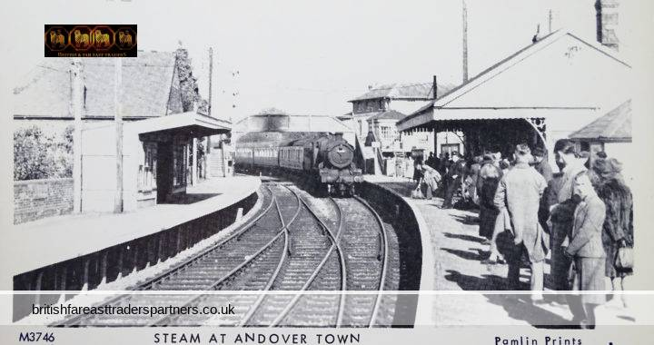 VINTAGE 1952 STEAM TRAIN  AT ANDOVER TOWN WR6373 on 10.10 Cheltenham Station Terminus 11.10.1952 PAMLIN PRINTS CROYDON POSTCARD COLLECTABLE TRASPORT / RAILWAYANA TOPOGRAPHICAL HISTORY SOCIAL HISTORY