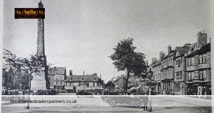 VINTAGE MARKET PLACE CATHEDRAL CITY RIPON BOROUGH OF HARROGATE NORTH YORKSHIRE England UK COLLECTABLE TOPOGRAPHICAL POSTCARD
