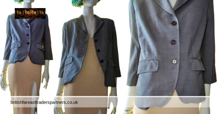LADIES' WOMEN'S PAUL SMITH BLACK Label MADE IN ITALY ITALY SIZE 46 | UK 12 GREY 98% WOOL TAILORED SUIT JACKET / BLAZER WORK | CASUAL | FORMAL | BUSINESS | CITY | ELEGANT | DESIGNER | POWER DRESSING | BOSS WOMAN