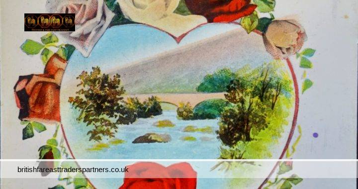 VINTAGE / ANTIQUE HEARTY GREETINGS COUNTRYSIDE SCENE PRINTED IN GERMANY COLLECTABLES | POSTCARDS | GREETINGS