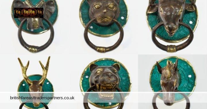 ANIMAL COLLECTION BRASS DOOR KNOCKERS TIMELESS & CLASSIC HOME DECOR MADE IN INDONESIA COLLECTABLES METALWARES | BRASS