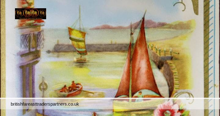 VINTAGE / ANTIQUE BIRTHDAY GREETINGS CARD BIRTHDAY WISHES TO MY DEAR DADDY SAILBOAT | BOAT | SEASIDE PRINTED IN GREAT BRITAIN Collectables > Paper & Ephemera > Greeting Cards