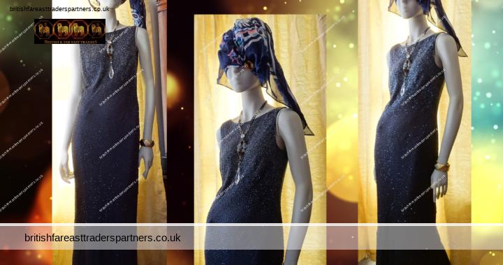 Ladies Monsoon Evening Dress UK 10 BLACK Sequin Bead 20s Art Deco Gatsby Party Formal Gala Events