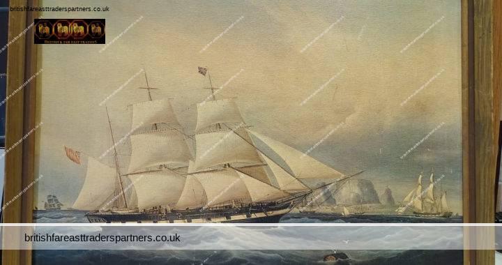 VINTAGE ART: Framed Print: The Barque Koh-i-Noor off the Cape of Good Hope by W.J.Huggins (1781-1845) British School