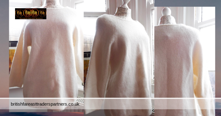 Ladies' Womens' St Michael Marks & Spencer CREAM Jumper Pullover Lambswool Angora Mix UK 20 VGC