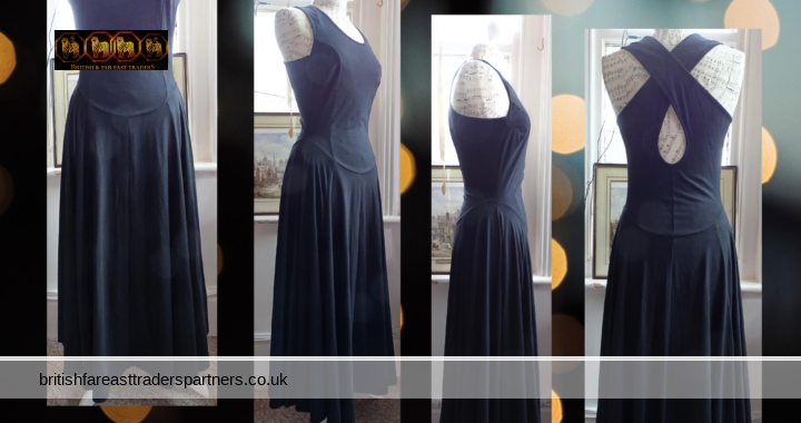 MISS SELFRIDGE Limited Editions BLACK SEXY Maxi LONG Sleeveless Crossback UK Size 12 VGC