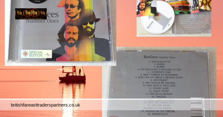 BeeGees Number Ones SPECIAL EDITION The Very Best 20 Greatest Hits Singles VGC