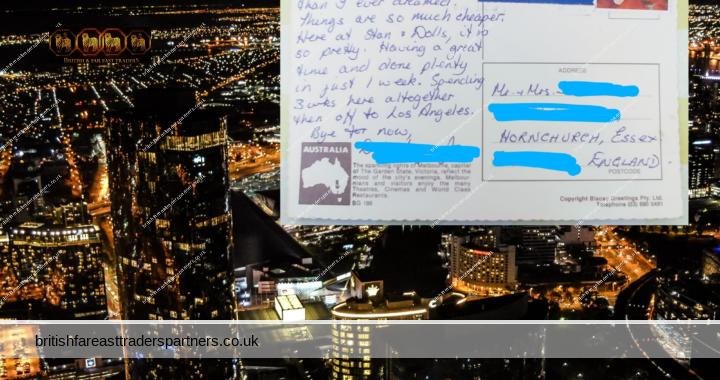 VINTAGE POSTCARD STORIES: Australia is far better than I ever dreamt- Melbourne, Australia: Written on 30th July 1986