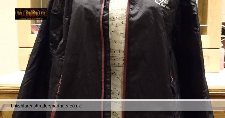 Ladies Crivit TREK APPAREL Outdoor Jacket WINDPROOF WATERPROOF Black / Purple Trimming  UK Size 18 / EUR / DE 44 FR 46 IT / ES/ PT 46