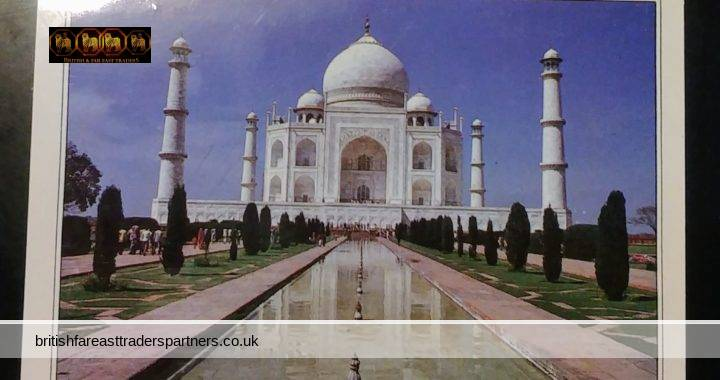VINTAGE POSTCARD STORIES: Wonderful Time in Agra India, TAJ MAHAL TOUR, Made Lots of Friends, Good Food & Hotel