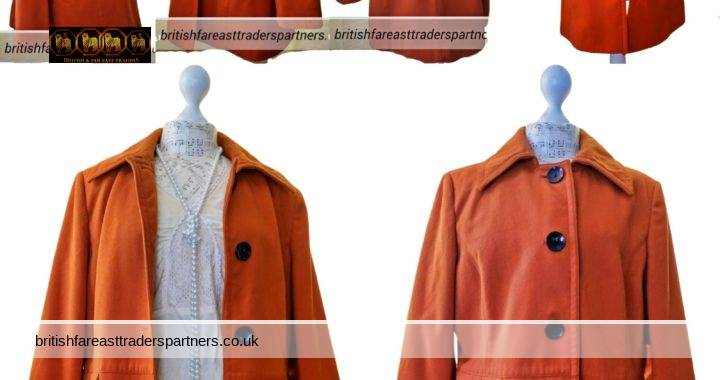 WARDROBE ESSENTIALS Ladies' Women's Deep Orange UK 16 EU 44 US 12 Autumn Winter Coat