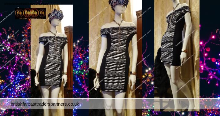 LIPSY Black White Wrinkle Bardot Bodycon Bandage PARTY COCKTAIL Dress UK 10 VGC