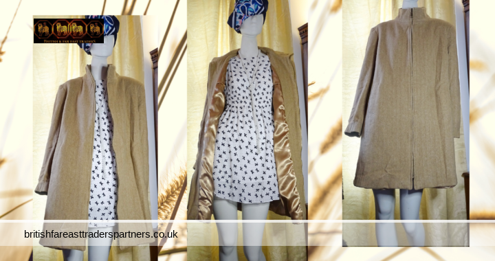 LADIES' WOMEN'S BONMARCHE Light Brown / OATMEAL Autumn Winter Coat UK 16 EURO 44 VGC