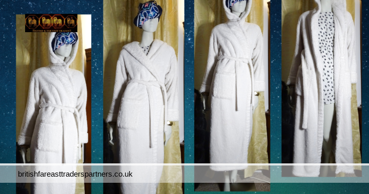 Ladies' Women's ROSIE FOR AUTOGRAPH MARKS & SPENCER WINTER WHITE Fleece Hooded Dressing Gown UK 8-10 / EUR 36-38 / CN 170/84A LONG