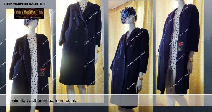 Women's Ladies' ADMYRA LONDON RED LABEL Cashmere & Wool BLACK WINTER COAT UK 8 VGC