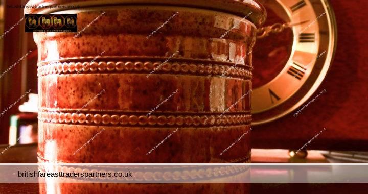 VINTAGE Brown Glazed Stoneware Poterie Du Berry French Butter Storage Pot Dish VGC