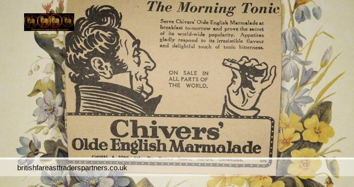 VINTAGE CHIVERS' Olde English Marmalade The Morning Tonic Newspaper Clipping Ad 1940s-1950s BONUS: SCOTLAND CALLING LONDON MIDLAND & SCOTTISH RAILWAY (LMS) AND LONDON & NORTH EASTERN RAILWAY (LNER)  ADVERTISEMENT