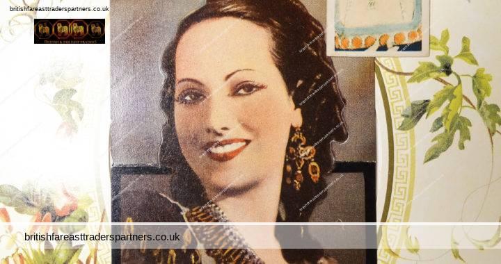 VINTAGE MERLE OBERON Die Cut POPOUT Postcard  + GODFREY PHILLIPS FILM STARS Cigarette Card