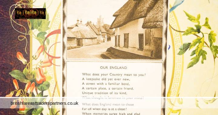 VINTAGE EPHEMERA POSTCARD A Thought for the Day Kathleen Partridge OUR ENGLAND Photochrom Co. Ltd London & Tunbridge Wells