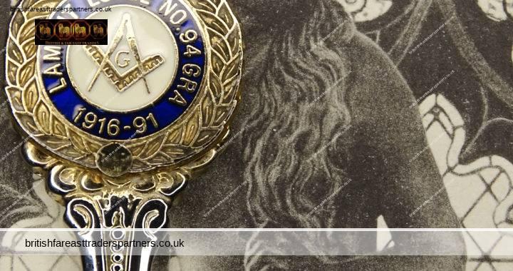 VINTAGE Masonic Spoon LAMONT LODGE No. 94 GRA 1916 – 1991 75th Anniversary Silver COLLECTIBLES VGC