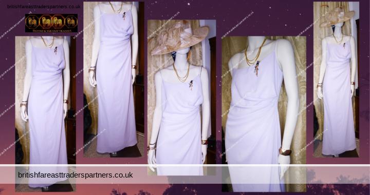 VINTAGE Inspired CLASSICS KELSEY ROSE LONDON Bridesmaid Dress Lavender / Lilac / Wisteria UK 12 / D 38