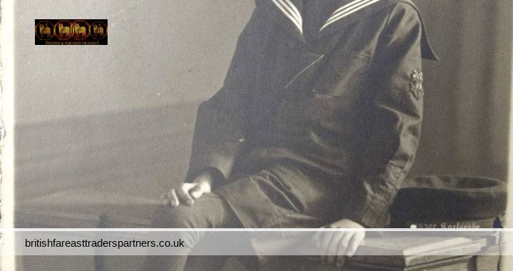 VINTAGE 1934 Young Smiling BOY Sailor  NAVY Uniform A. KRATZER Photography Fraulein Margarete Schonert DRESDEN Germany Black &White COLLECTABLE SOCIAL HISTORY RPPC POSTCARD
