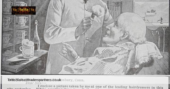 ANTIQUE February 1900 VICTORIAN Advertisement WILLIAMS' SHAVING SOAP Newspaper EPHEMERA COLLECTABLE ADVERTISING
