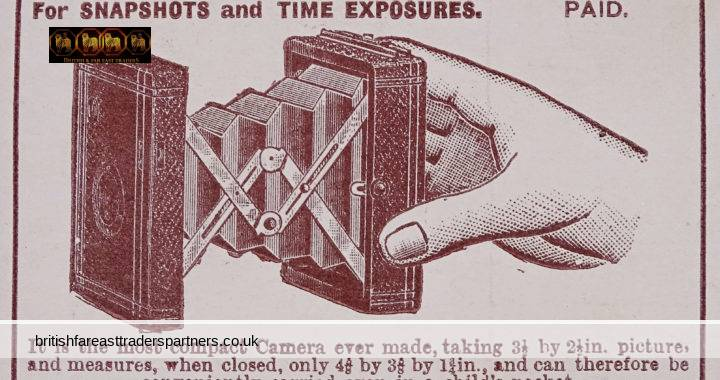 ANTIQUE 1899 MONROE No.2 POCKET CAMERA MONROE CAMERA CO. Sutton House, 2 Old Street, LONDON, E.C. WIDE WORLD MAGAZINE Advertisement