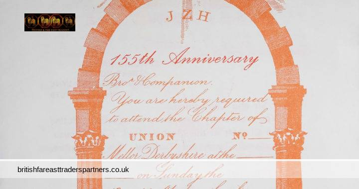 VINTAGE NOVEMBER 1979 HOLY ROYAL ARCH Chapter of Union  No. 268 Masonic Hall Albert House SUMMON to ATTEND DUTIES ASHTON-UNDER-LYNE Harold HOLDEN COLLECTABLE MASONIC EPHEMERA