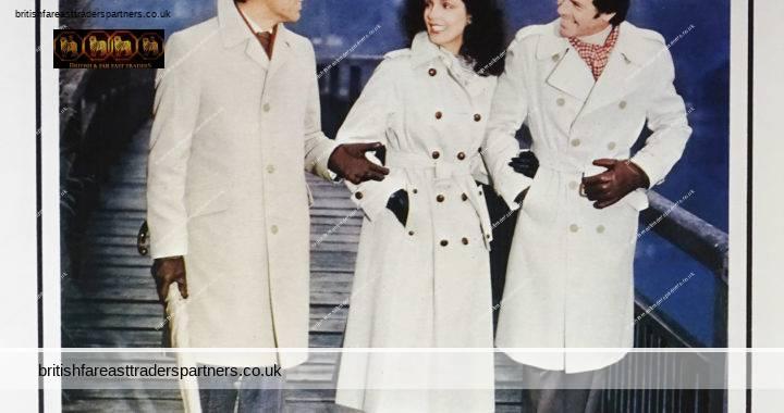 VINTAGE 1982 AQUASCUTUM 100 Regent Street LONDON British Tailoring CLOTHES & ACCESSORIES CUNARD MAGAZINE COLLECTIBLE FASHION ADVERTISEMENT EPHEMERA