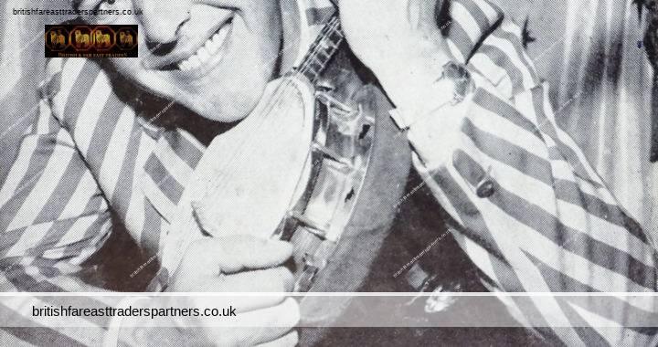 VINTAGE 1963 Sam Bass & His Ukulele GEORGE FORMBY Imitator Staffordshire ENGLAND Advertising PHOTO / CARD COLLECTABLE EPHEMERA MUSICIANS