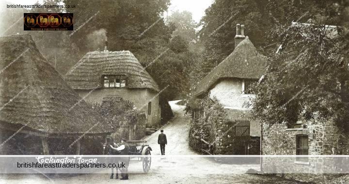 ANTIQUE 14 NOVEMBER 1916 Cockington Forge IRON AGE English Village Near Torquay DEVON RPPC Postcard COLLECTABLE ARCHITECTURE HISTORY SOCIAL HISTORY TOPOGRAPHICAL