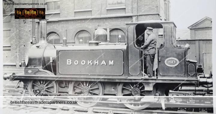 VINTAGE BOOKHAM 80 LOCOMOTIVE OF THE LONDON BRIGHTON & SOUTH COAST RAILWAYS F. MOORE'S RAILWAYS PHOTOGRAPHS 3 AMEN CORNER, LONDON, EC4 RPPC POSTCARD COLLECTABLE TRASPORT / RAILWAYANA HISTORY SOCIAL HISTORY