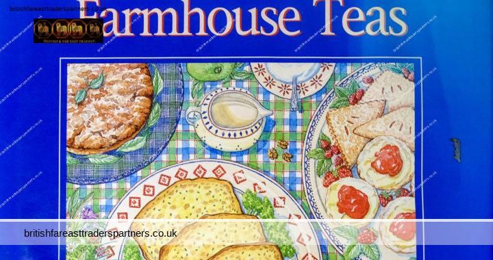 1994 Traditional FARMHOUSE TEAS Janice Murfitt Parragon ILLUSTRATED Series FOOD / COOKERY BOOK