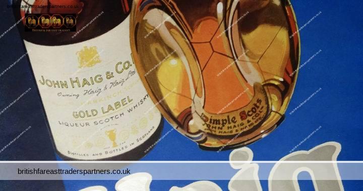 VINTAGE 11th MAY 1935 HAIG FINE SCOTCH WHISKY BLUE / SILVER COLOUR SCHEME JOHN HAIG & CO. LTD. COLLECTABLE Spirits / Distillery WHISKY EPHEMERA ADVERTISEMENT