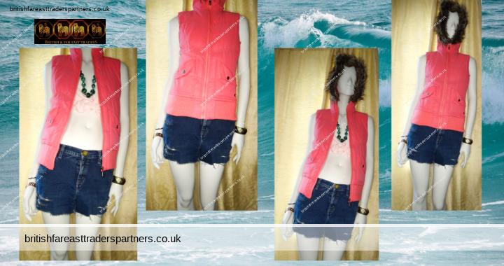 Ladies' Women's SOULCAL Hot Pink PADDED Ribbed Waist Hooded Faux Fur GILET / Sleeveless Jacket UK 8