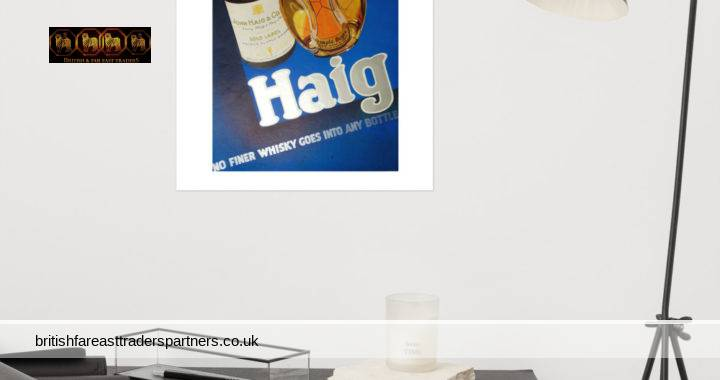 VINTAGE 11th MAY 1935 HAIG FINE SCOTCH WHISKY BLUE / SILVER COLOUR SCHEME JOHN HAIG & CO. LTD. COLLECTABLE Spirits / Distillery WHISKY EPHEMERA ADVERTISEMENT- REPRODUCTION POSTER WALL ART